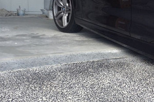 Grind concrete lip garage in Brisbane